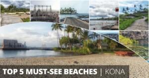 top 5 Kona beaches